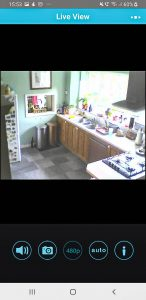 Home CCTV and Smart Cameras kitchen screenshot