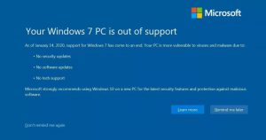 upgrade to windows 10 - windows 7 end
