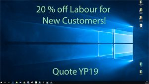 20 % off computer repairs in West Sussex and South Surrey